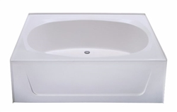 60 x 42 garden tub no step fiberglass for Fiberglass garden tub