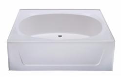 60 x 42 garden tub no step fiberglass for Fiberglass garden tubs