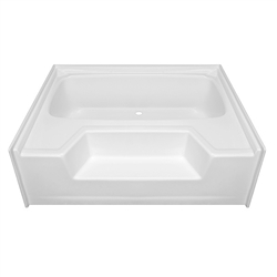 "54"" x 40"" Garden Tub With outside Step Fiberglass"