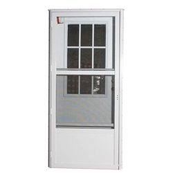 Elixir series 6000 housetype combo door with cottage window - Mobile home combination exterior doors ...