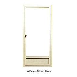 Aluminum mobile home white full view storm door for All glass storm door