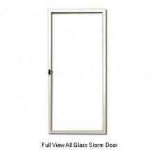 Aluminum mobile home white full view glass storm door for All glass storm door