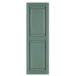 "Raised Solid Panel Window Shutters 15"" x 55"""