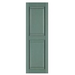 Raised Solid Panel Window Shutters 15 X 55
