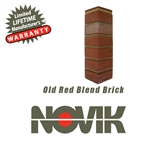 Novik Hand-Laid Old Red Blend Brick Pattern Corner