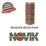 Novik Hand-Cut Mountain Blend Stone Pattern Corner