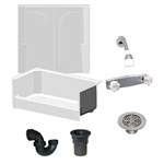 54 x 27 Mobile Home shower With 2 Piece Fiberglass Surround