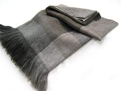 Alpaca and Gray Wool Throw Blanket