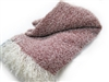 Wool & Angora Mohair Snow Throw Blankets, Beautiful Luxurious Blend - All Natural