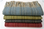 Alpaca and Wool Throw Blanket, Our Deckchair Throw is Luxurious, Silky Soft and All Natural - Black Multi-color