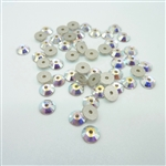 4mm Swarovski crystal sequins (article 3128), crystal AB, 50 pieces