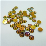 4mm Swarovski crystal sequins (article 3128), volcano, 50 pieces
