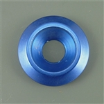 Anodized Aluminum Counter sunk washer, 25mm outer diameter, blue
