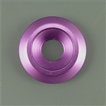Anodized Aluminum Counter sunk washer, 25mm outer diameter, purple