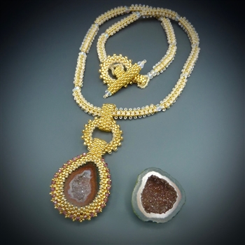 One-of-a-Kind Geode Necklace Kit, baby geode #3