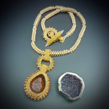 One-of-a-Kind Geode Necklace Kit, baby geode #4