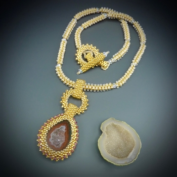 One-of-a-Kind Geode Necklace Kit, baby geode #5