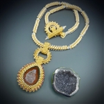 One-of-a-Kind Geode Necklace Kit, baby geode #8