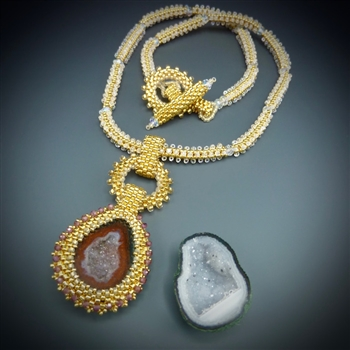 One-of-a-Kind Geode Necklace Kit, baby geode #9