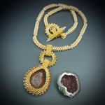 One-of-a-Kind Geode Necklace Kit, baby geode #11