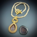 One-of-a-Kind Geode Necklace Kit, baby geode #12