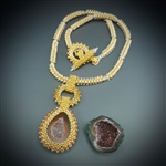 One-of-a-Kind Geode Necklace Kit, baby geode #13