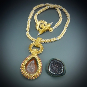 One-of-a-Kind Geode Necklace Kit, baby geode #16