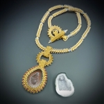 One-of-a-Kind Geode Necklace Kit, baby geode #24