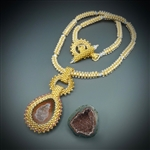 One-of-a-Kind Geode Necklace Kit, baby geode #27