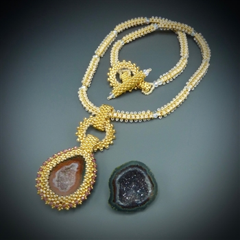 One-of-a-Kind Geode Necklace Kit, baby geode #29