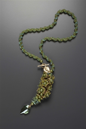 Bells of Ireland Necklace Kit, green & gold