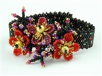 Cherry Blossom Bracelet Kit, black & multi