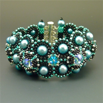 Deco Bracelet Kit, black & teal RESTOCKED
