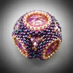 Crown Jewel Beaded Bead Kit, rose lemon plum