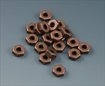 Custom Antique Copper Plated 4-40 Hardware Nuts, package of 20