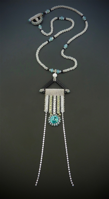 Deco Daze Necklace Kit, black, white & turquoise
