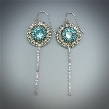 Cascade Earrings Kit, light sapphire