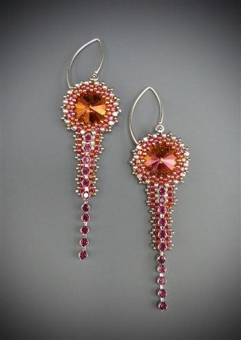 Deco Earrings Kit, siam & ruby
