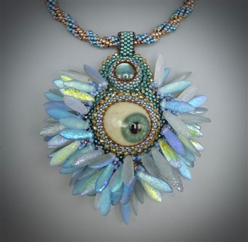 """Eye Spy"" Necklace Kit, blue & copper"