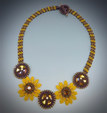 Flower Power Necklace Kit, black-eyed susan