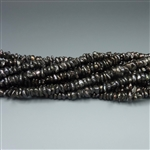 "6-7mm keshi charcoal black fresh water pearls, one 16"" strand"