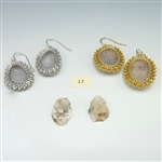 One-of-a-Kind Geode Earrings Kit, geode pair #17