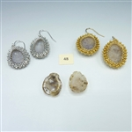 One-of-a-Kind Geode Earrings Kit, geode pair #48