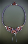 Jazz Age Jewels Necklace Kit, orange, red & blue