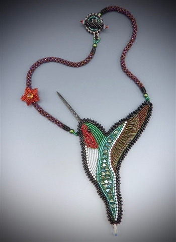 """Lightness of Being"" Necklace Kit, emerald and ruby"