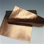 Metallic Copper Leather, 6x12 inch rectangle