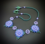 Dahlia Daze Necklace Kit, purple & green