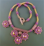 Duo-plicity Necklace Kit, purple & orange