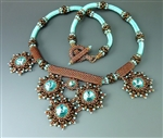 Duo-plicity Necklace Kit, turquoise & bronze