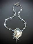 Nautilus Necklace Kit, blue & white